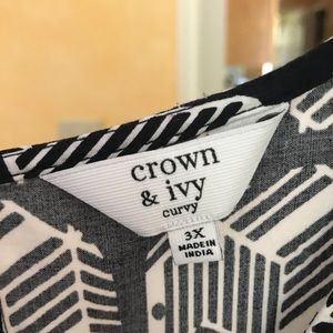 Crown and Ivy Elephant print blouse